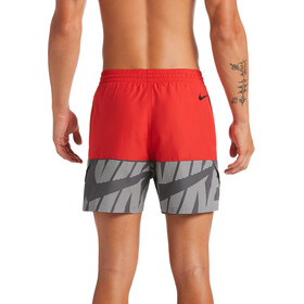 "Nike Swim Tilt Split Breaker 5"" Shorts Volley Hombre, rojo/gris"